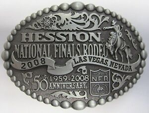 National Finals Rodeo Hesston 2008 Youth (Small) NFR Cowboy Buckle New AGCO PCRA