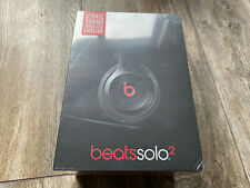 New Sealed Genuine Beats by Dr Dre Solo 2 Wired Headband Headphones Black
