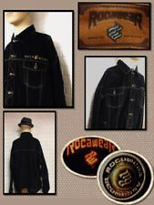 ROCA WEAR Size 3XL Black Denim Men's Jean Jacket Coat  Button Up Pockets 396113