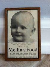 1901 ORIGINAL MELLIN's BABY FOOD Co. MAGAZINE ADVERTISING AD FRAMED FRANZ WERNER