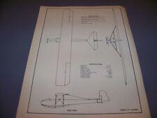 VINTAGE..CADET UT-1 GLIDER..3-VIEWS/CONSTRUCTION/SPECS..RARE! (802A)