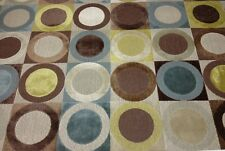 """34370 CLARENCE HOUSE TURANDOT BROWN CIRCLE LINEN VELVET FABRIC BY THE YARD 52""""W"""
