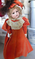 "BIG Vintage 1930s Unica Belgium  Composition Girl Character  Doll 27"" Tall"
