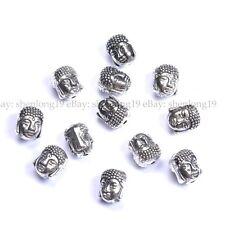 10pcs Silver Gold Bronze Metal Buddha Head Bracelets Charms Beads 10MM SH880