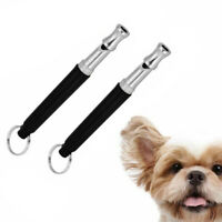 2Pcs Dog Training WHISTLE UltraSonic Obedience Stop Barking Pet Sound Pitch  BA