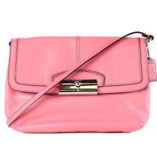 Coach 48986 Kristin Genuine Leather Flap Crossbody Shoulder Bag PINK