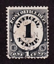 US O47 1c Post Office Department Used w/ SON Elmira, NY CDS Fancy Town Cancel