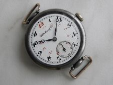 Vintage Hy Moser&Cie Watch Co Porcelain Dial Military Wrist watch WWI For Russia