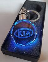 2018 KIA Car Logo Crystal 3D LED Light Keyring Gift MULTI COLOUR Key fob