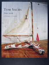 2004 Tom Sachs ice boat photo New Work aspen exhibition vintage print Ad