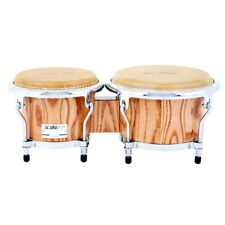 """Gon Bops AA0785N Alex Acuna Signature Bongos Hand Drums Natural Lacquer 7/8.5"""""""