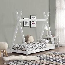 Cuna 80x160cm tipi indio cama madera blanco Hausbett Niños casa