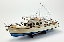 "Grand Banks 42 Yacht Handmade Wooden Boat Model 38"" RC Ready Top Quality"