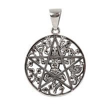 Sterling Silver Cernunnos Pentacle Pendant - Dryad Design Horned God Talisman