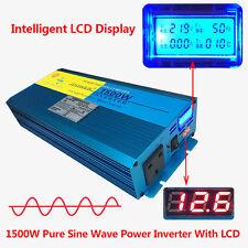 1500W/3000W Pure Sine Wave Watt Power Inverter 12V to 230V CAR CARAVAN CAMPING