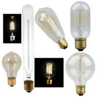 E27 40W Vintage Retro Filament Edison Tungsten Light Bulb Antique Style Lam L4Q9