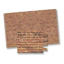 1:12 Scale Dolls House Red Embossed Brick Wallpaper DIY 48.5cm x 31.5cm DIY646