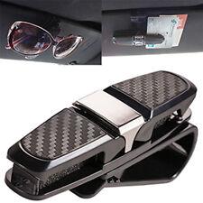 Car Auto Sun Visor Glasses Sunglasses Card Ticket Holder Clip Silver Universal
