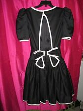 VINTAGE 80s VICTOR COSTA USA size 6 black white party dress HUGE BOW open back