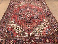 "Hand Knotted Persian TABRIZ- Heriz Antique Look Rug Carpet 8 x 10 ,7'9""x10'7"""