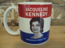 JACQUELINE JACKIE KENNEDY ONASIS PATRIOTIC COFFEE VINTAGE CUP AMERICA'S 1ST LADY