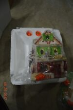 2002 Avon Autumn's Glow Tealight House - Fall Scene Halloween Porcelain 2 Pc New