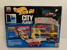 Hot Wheels Sto & Go City Playset Toyota Celica Red 25 Years 65602 1994 HTF