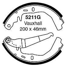 Vauxhall Cavalier, Chevette (1974-1981) *New* Rear Brake Shoe Set EBC 5211G