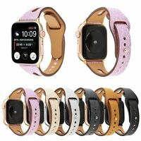 38/42/40/44mm Shinning Leather Band Women Strap for Apple Watch Series 6 5 4 3 2