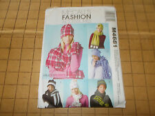 McCALLS #4681 HATS SCARVES & MITTENS SEWING PATTERNS