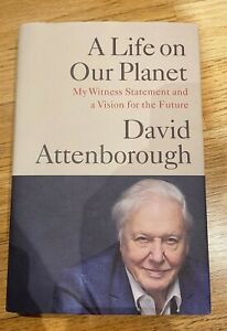 David Attenborough 'A life on our Planet' hand signed, hardback book.