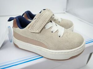 carter's Boys' Retro Casual Sneaker, Khaki, 5 M Toddler