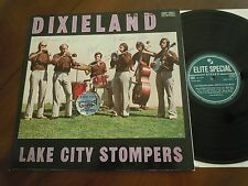 LAKE CITY STOMPERS Dixieland SWISS ELITE SPECIAL LP 1973 signed