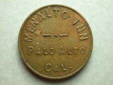 Palo Alto, CA Menalto Inn 5 Cents Token