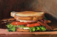 """BLT"" NOAH VERRIER Still life oil painting, Contemporary Art, Signed art print"