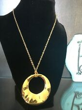 Chicos Gold Circle Necklace