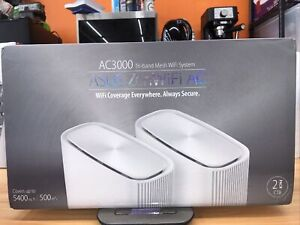 ASUS ZenWiFi AC CT8 AC3000 Tri-Band Mesh Wi-Fi Router (2-Pack, White) [NEW]