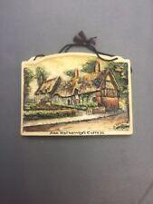 Ann Hathaways Cottage 4½x3¼  Arthur Osborne Ivorex Wall Plaque
