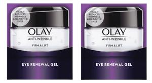 2 x Olay Anti-Wrinkle Firm & Lift Eye Renewal Gel  (2 x 15ml)