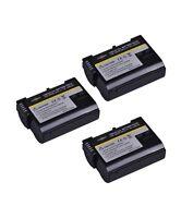 3 Batteries EN EL15 1900mAh for Nikon DSLR D7200-D7100-D7000-D810-D800-D750-D610
