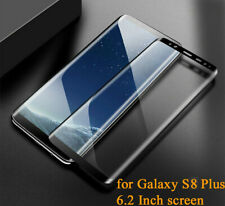 Tempered Glass Screen Protector Cover for Samsung Galaxy S8 PLUS 6.2 Inch BLACK