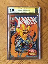 X-Men #58 Signed by Neal Adams Roy Thomas Tom Palmer 1st Havok 6.0 FN CGC