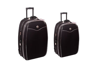 Handgepäck, Reisekoffer, Koffer, Trolly,mit Dehnfalte als Set in Größe L und M