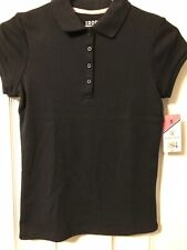 Nwt Izod Girl's, Schoolwear Polo Shirt, Navy Blue, Size M(10/12)
