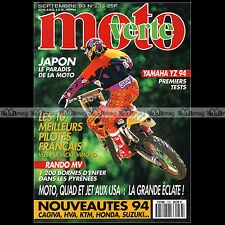 MOTO VERTE N°233 YAMAHA YZ 125 250 JACKY VIMOND CYRIL ESQUIROL YVES DEMARIA 1993