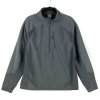 The North Face Mens 1/2 Zip Softshell Jacket Gray FlashDry Pullover Stretch L
