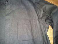 Armani Collezioni rare Uomo Camicia black mens lightweight jacket shirt size 52