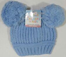 Baby Boy Girl Cotton Lined Knitted Pompom Nepalese Winter Hat NB 0-3 1 Supplied