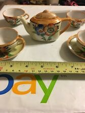 Vintage Small Tea Set Made In Japan Hand Painted Flowers