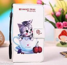 Cover libro stampato portabiglietti PU pelle sintetica per LG Optimus Sol E730